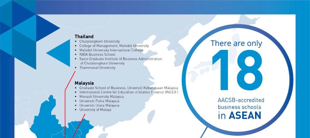 Map of AACSB Business School in ASEAN