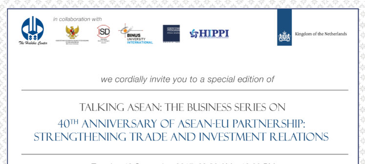 Talking ASEAN: The Business Series – Prospect and Challenges of Regional Comprehensive Economic Partnership amidst Uncertain Future of the Trans-Pacific Partnership