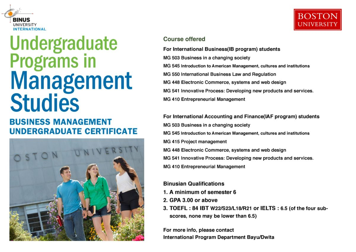 International Business Boston University Metropolitan College