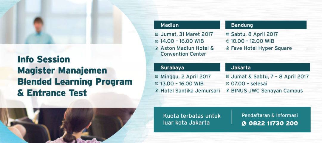 Info Session Magister Management Blended Learning Program & Entrance Test
