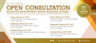 OPEN CONSULTATION MAGISTER MANAGEMENT BINUS BUSINESS SCHOOL
