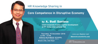 HUMAN RESOURCE (HR) KNOWLEDGE SHARING: CORE COMPETENCE IN DISRUPTIVE ECONOMY