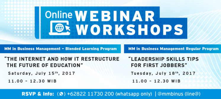 Info Session Live Streaming for MM in Business Management – Blended Learning