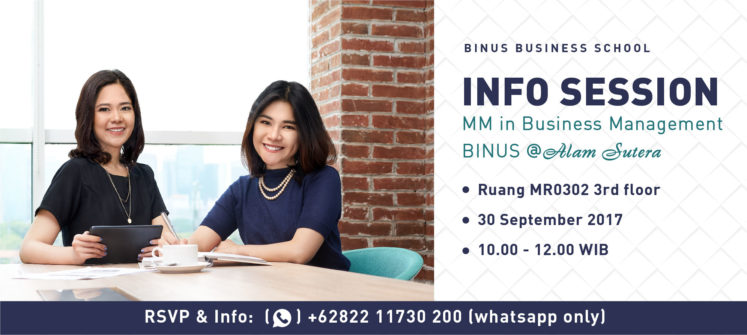 Open Consultation for MM in Business Management at BINUS @Alam Sutera