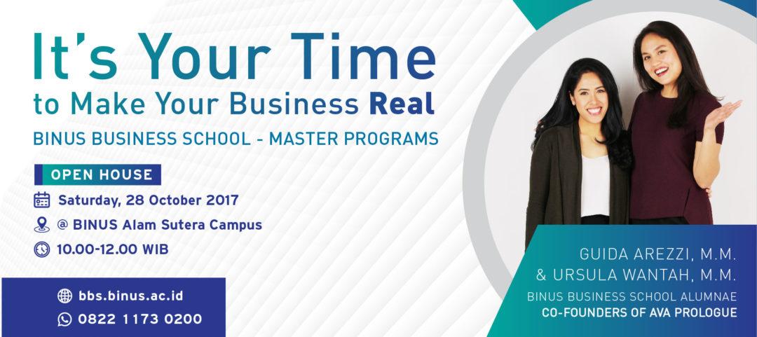 BINUS BUSINESS SCHOOL – Master's Program Open House