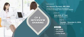CV & INTERVIEW TRAINING