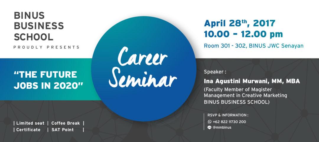 Career Seminar: The Future Jobs in 2020