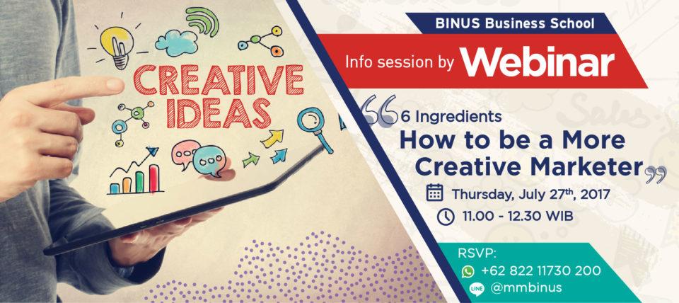 Workshop MM in Creative Marketing Webinar: