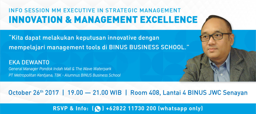 Info Session MM Executive in Strategic Management: Innovation & Management Excellence