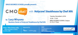 CMO CHAT WITH HOLYCOW! STEAKHOUSE BY CHEF AFIT