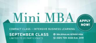 Mini MBA September Class