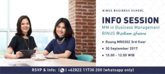 Info Session MM in Business Management at BINUS @Alam Sutera Campus
