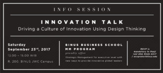 "Luncheon & Innovation Talk: "" Driving a Culture of Innovation using Design Thinking"""