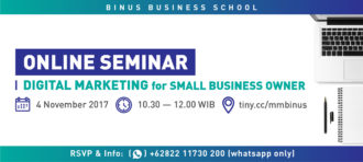 Online Seminar: Digital Marketing for Small Business Owner